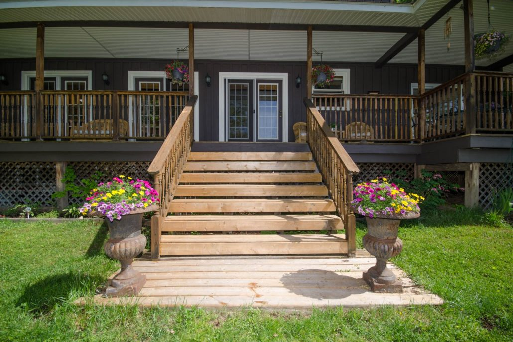 Cottage porch steps