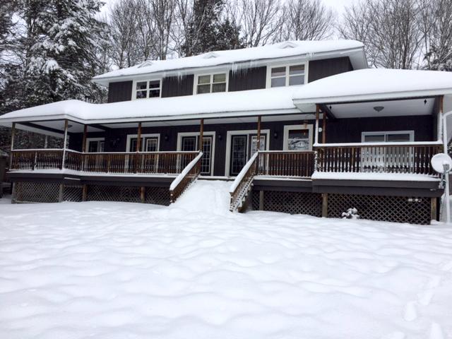 Winter cottage deck