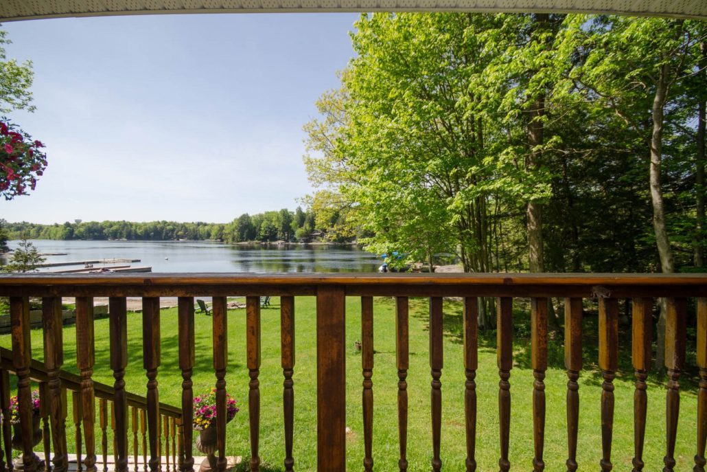 Cottage porch view